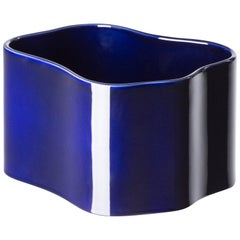 Authentic Riihitie Plant Pot B in Blue by Aino Aalto & Artek, Medium