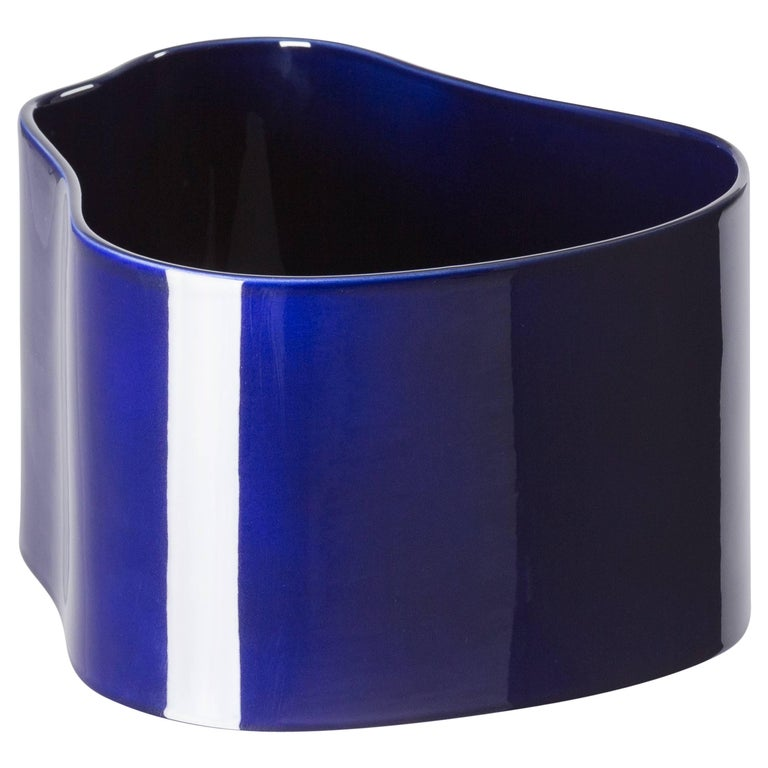 Authentic Large Riihitie Plant Pot A in Blue by Aino Aalto & Artek For Sale
