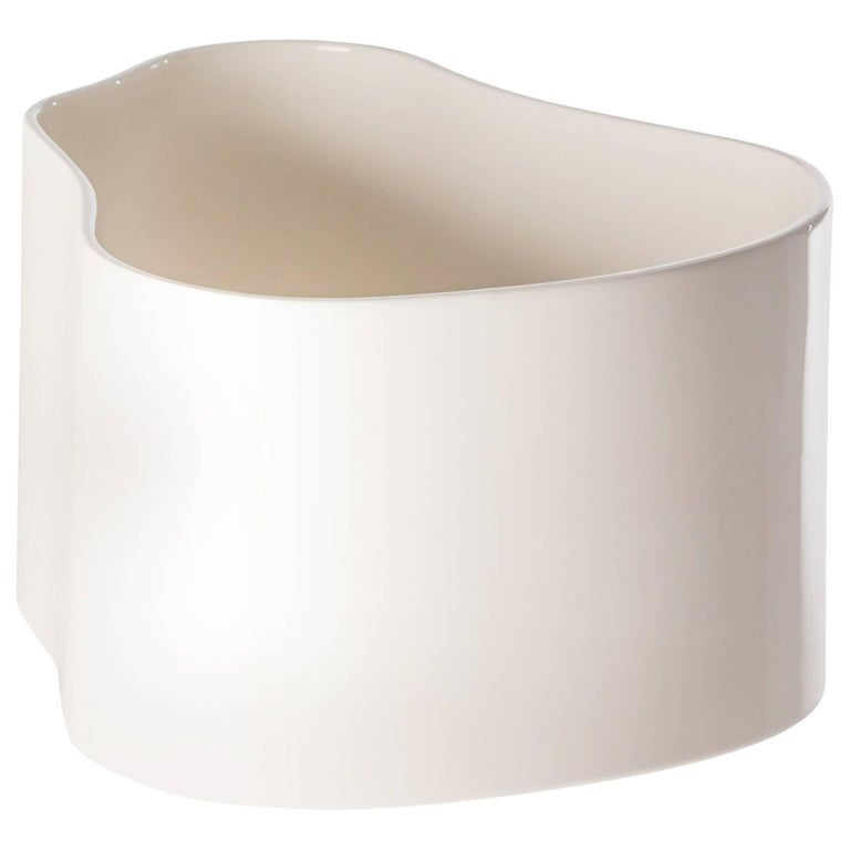 Authentic Large Riihitie Plant Pot A in White by Aino Aalto & Artek For Sale