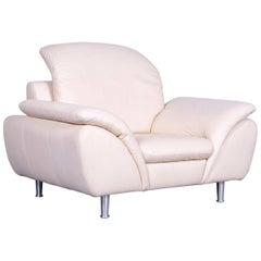 Ewald Schillig Designer Armchair Leather Beige Couch Modern