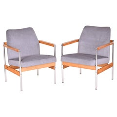 Restored Pair of Scandinavian Midcentury Armchairs