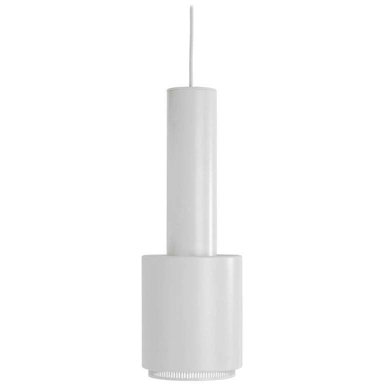 """Authentic Pendant Light A110 """"Hand Grenade"""" in White by Alvar Aalto & Artek"""