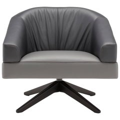 Janine Armchair in Gray and Charcoal by Emanuel Gargano