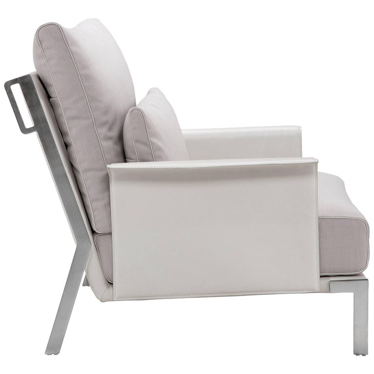 Link Armchair in Pale Gray by Maurizio Marconato & Terry Zappa