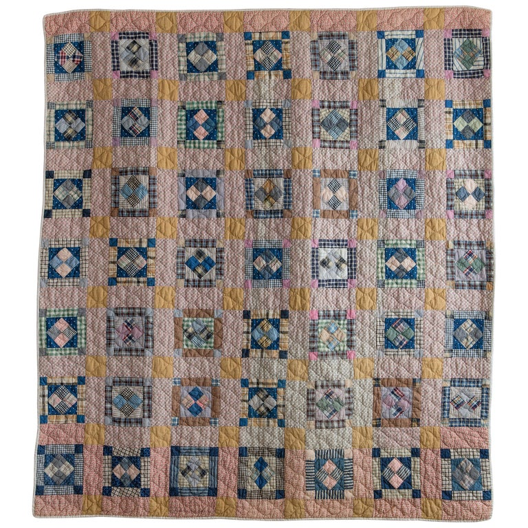 Vintage Patchwork Quilt For Sale