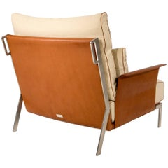 Link Armchair in Beige and Brown by Maurizio Marconato & Terry Zappa