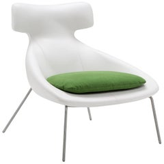 Oslo Armchair in White and Green by Maurizio Marconato & Terry Zappa