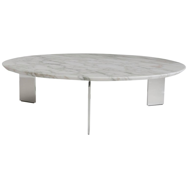 Ring Coffee Table with Marble Top by Maurizio Marconato & Terry Zappa