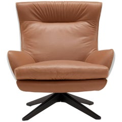 Rosemary Lounge Armchair in Mid Brown by Emanuel Gargano