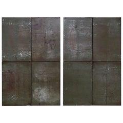 Ramon Horts Large Minimalism Metal Artwork Diptych 2/2/2 N 001