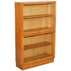Meredew Furniture Mid-Century Modern Light Oak Stacking Bookcase Made in England