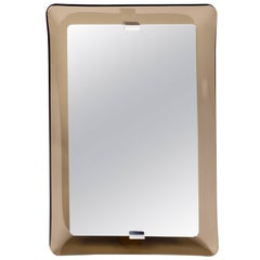 Fontana Arte Rectangular Glass Framed Mirror
