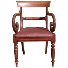 Early 19th Century Regency Mahogany Antique Desk Chair