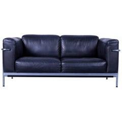 De Sede DS 560 Designer Sofa Black Leather Two-Seat Modern