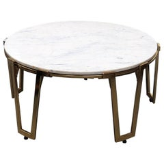 Jean Royere Style Marble-Top Coffee Table