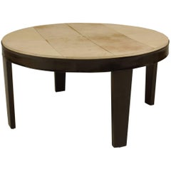 Italian 1950s Round Ebonized Coffee Table