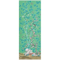 Schumacher Miles Redd Brighton Pavilion Chinoiserie Emerald Wallpaper Panel
