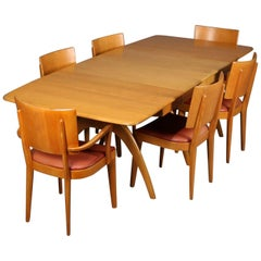 Mid-Century Modern Wishbone Dining Table Set by Heywood Wakefield, 20th Century