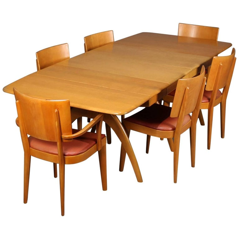 Mid Century Dining Set: Mid-Century Modern Wishbone Dining Table Set By Heywood