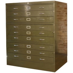Vintage All-Steel Flat File Storage Cabinet