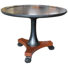 Empire Style Black Marble Centre Table by Ralph Lauren