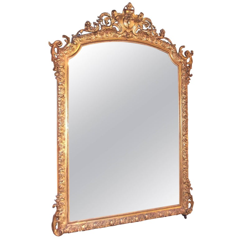 Belle Epoque Louis XVI Style Gilt Mirror