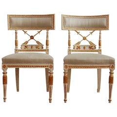 Ephraim Ståhl, Late Gustavian / Early Empire Chairs, Pair, Circa 1800