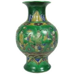 Antique Chinese Green Glaze Vase