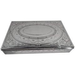 Antique Tiffany Neoclassical Sterling Silver Desk Box