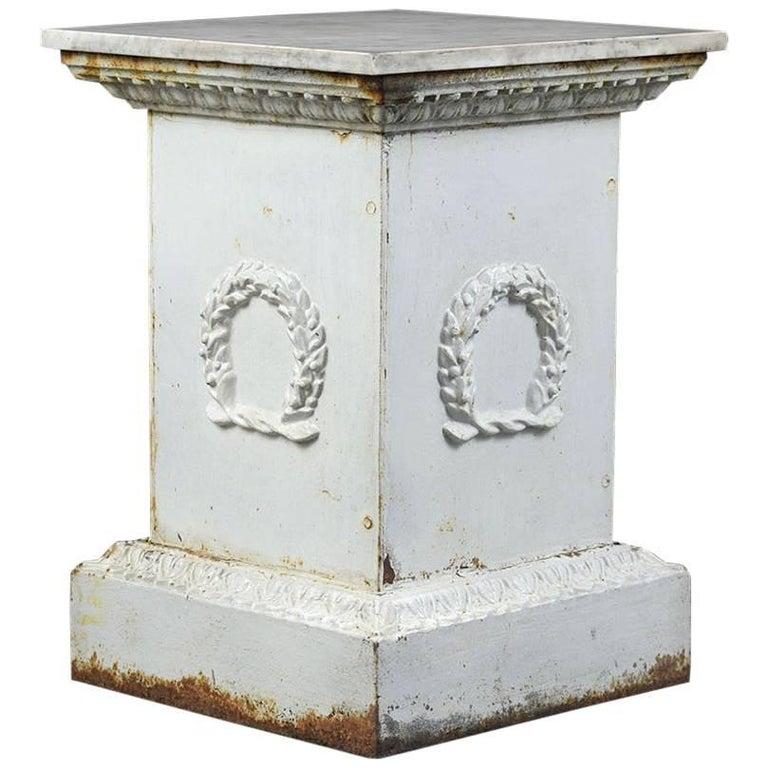 Antique Neoclassical Style Iron Pedestal