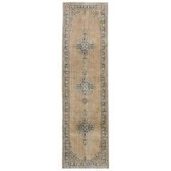 Distressed Vintage Turkish Sivas Runner with Gustavian Farmhouse Style