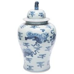 Chinese Blue and White Shizi Jar