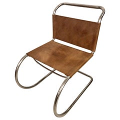 Mies Van Der Roche for Knoll Style Tubular Side Chair