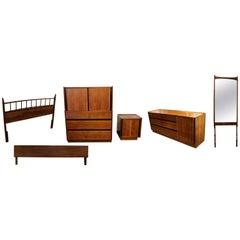 Mid-Century Modern Gershun for Dillingham Esprit Bedroom Six-Piece Set 1960s