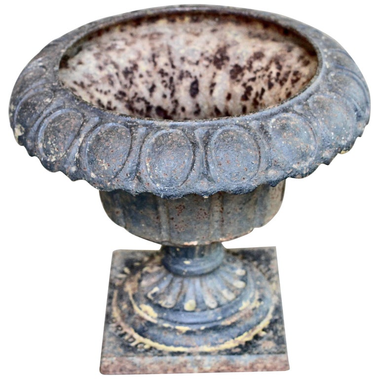 19th Century C E Walbridge Cast Iron Garden Urn For Sale At 1stdibs