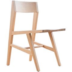 Phloem Studio Jess Side Chair, Modern White Oak Solid Wood Dining Chair