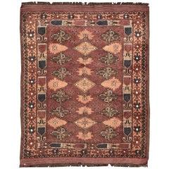 Beautiful Vintage Turkmen Afghan Rug