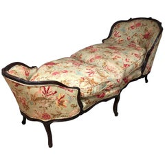 French 18th Century Du Chaise Brisee in Walnut
