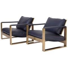 milo baughman furniture. Pair Of Bronze Frame Lounge Chairs By Milo Baughman Furniture D
