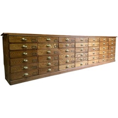 Haberdashery Chest of Drawers Shop Counter Oak Antique Loft Industrial Style