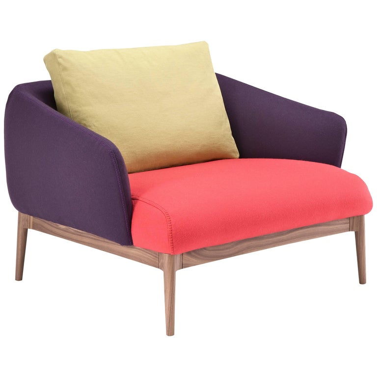 Theo Multi-Color Armchair by Maurizio Marconato & Terry Zappa For Sale