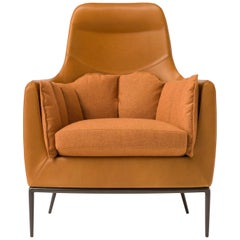 Tulip Armchair in Orange by Luca Scacchetti