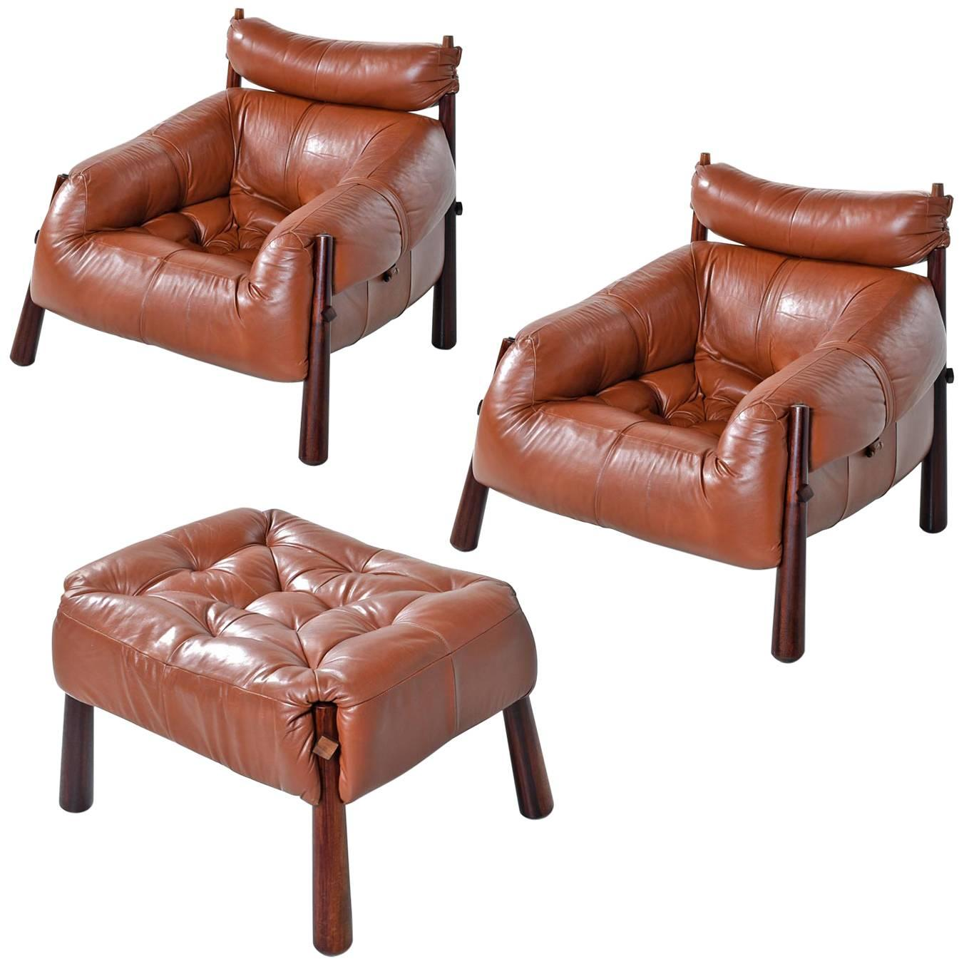 Percival Lafer MP-81 Brazilian Rosewood u0026 Leather Lounge Chairs and Ottoman Set  sc 1 st  1stDibs & Percival Lafer Furniture: Chairs Sofas Tables u0026 More - 125 For ...