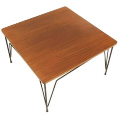 Square Teak Coffee Table by Cerutti, 1950s