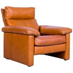 De Sede Designer Armchair Leather Brown Function Recliner
