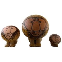 Gustavsberg Lisa Larson Pottery, Three Lions