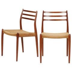 Niels Møller Chairs Model 78 J.L. Møller, 1960s