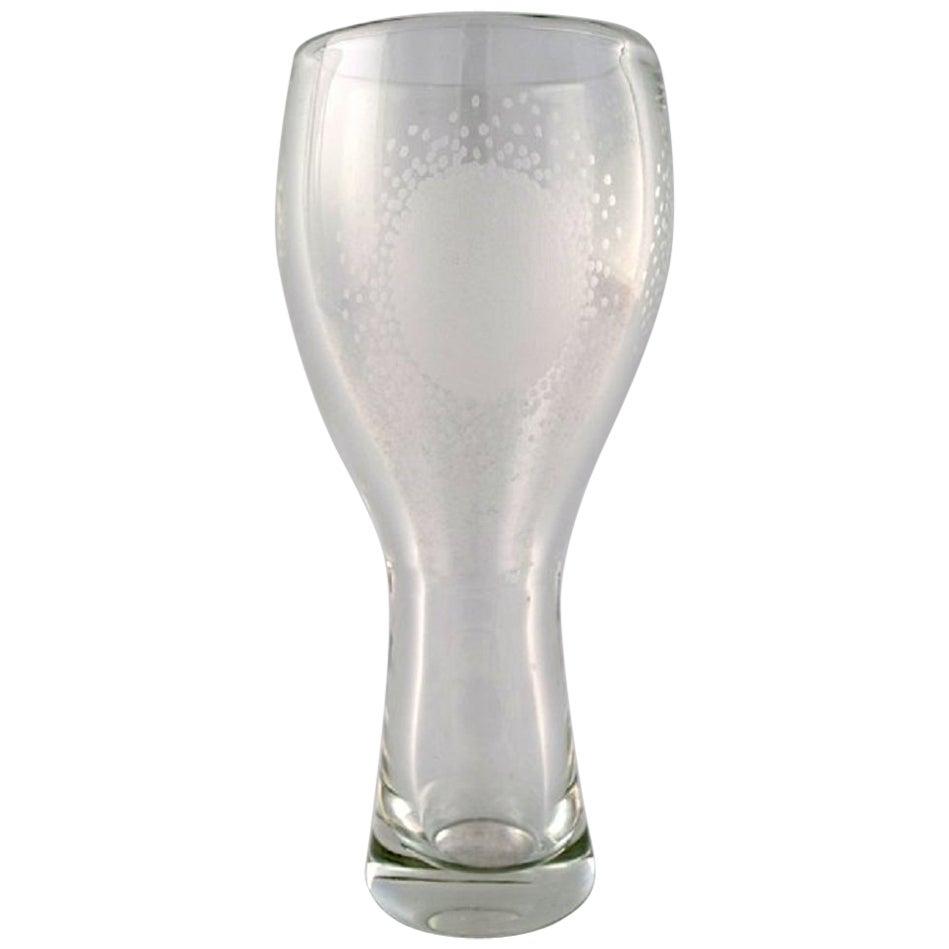Bengt Orup, Johansfors Art Glass Vase Designed in the 1950s