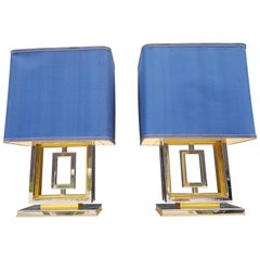Extra Large, Heavy Pair of Romeo Rega Table Lamps