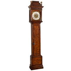 Walnut Longcase Clock by Daniel Delander, London